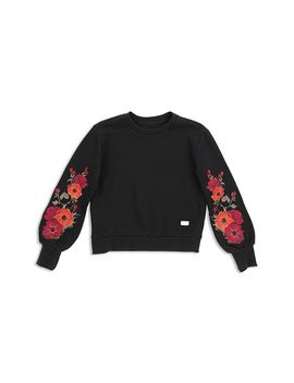 Girls' Floral Embroidered Sweatshirt   Big Kid by 7 For All Mankind