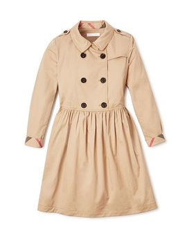 Girls' Trench Dress   Little Kid, Big Kid by Burberry