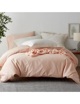 Company Cotton Peach Blossom Percale Full Duvet Cover by The Company Store