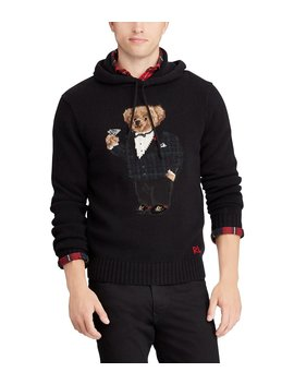 Martini Bear Wool Hoodie by Polo Ralph Lauren