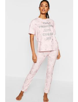Disney Princess Glitter Pj Set by Boohoo