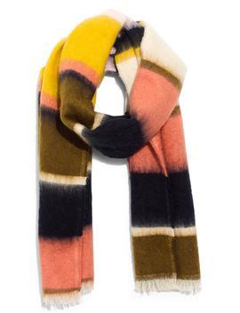 Fuzzy Multi Stripe Scarf by Madewell