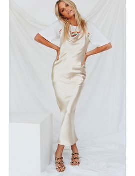 American Model Cowl Neck Midi Dress // Gold by Vergegirl