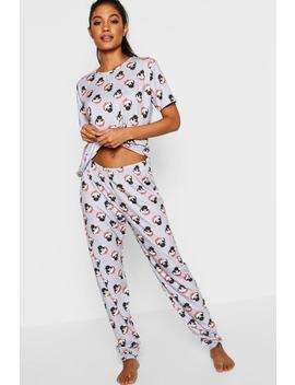 Festive Pug Pj Trouser Set by Boohoo