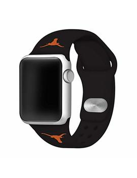 Affinity Bands Texas Longhorns Silicone Sport Band Compatible With Apple Watch   Band Only (38mm/40mm Black) by Affinity Bands