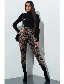 Daydream Faux Suede Leopard Pant by Akira