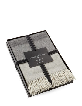 Printed Cashmere Throw Gift Box by Magaschoni