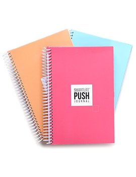 A 90 Day, All In One Life Planner/Goal Setter/Notebook/Organizer/Scheduler, 3 Colors/Pack, Each Journal: 160 Pages Quality Paper, 0.9 Lbs.  Light Weight, 6.8x9 Inches   Fits Into Your Bag by The Push Journal