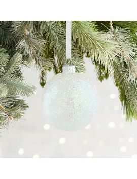Iridescent Glittered Glass Ball Ornament by Pier1 Imports