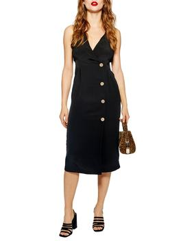 Sleeveless Button Front Sheath Dress by Topshop