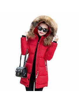 Rela Bota Women's Winter Warm Down Coat Faux Fur Hooded Parka Puffer Jacket Long Overcoat by Rela Bota