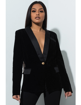 Run The Show Velvet Blazer by Akira