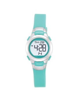 Women's Armitron® Pro Sport Teal Digital Watch   Silver by Armitron