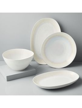 Reactive Glaze Serveware   White by West Elm