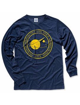 Hank Player U.S.A. Original Nasa Seal Men's Long Sleeve T Shirt by Hank Player U.S.A.