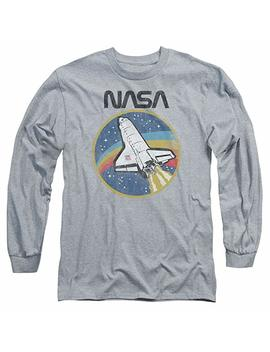 Nasa Shuttle Unisex Adult Long Sleeve T Shirt For Men And Women by Trevco