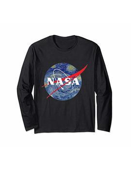 Nasa Starry Night Long Sleeve Shirt   Nasa Van Gogh Style by Nasa Starry Night T Shirt