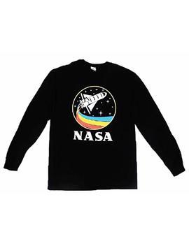 City Dream Shop Nasa Retro Rocketship Designed Long Sleeve Shirt by City Dream Shop