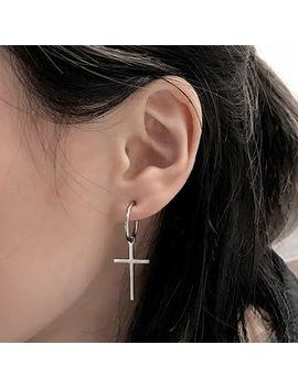 Chaffus   Mini Hoop Cross Earrings by Chaffus