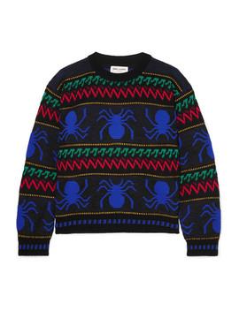 Intarsia Wool Sweater by Saint Laurent