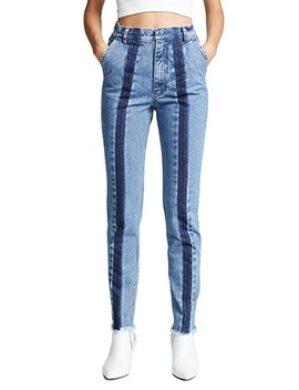 Slim Jeans With Front Stripes by Ksenia Schnaider