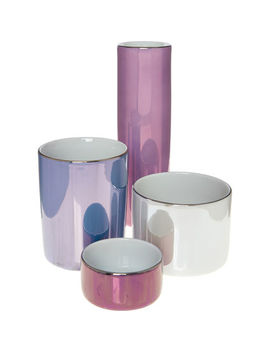 Set Of Four Pastel Polka Pots by Lsa International