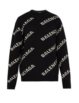 Logo Intarsia Sweater by Balenciaga