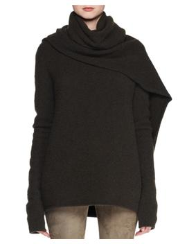 Merriah Scarf Neck Long Sleeve Cashmere Blend Sweater by The Row