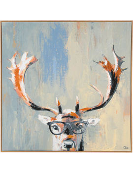Glasses Deer 81x81cm by Marmont Hill