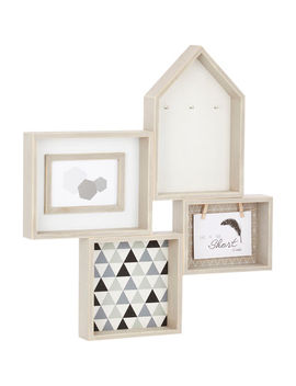 Grey House Collage Photo Frame by