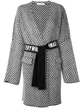 Chevron Belted Wrap Coat by Golden Goose Deluxe Brand