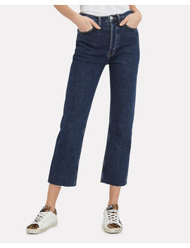High Rise Stove Pipe Comfort Stretch Jeans by Re/Done