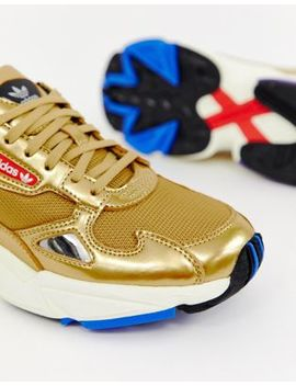 Adidas Originals Gold Metallic Falcon Sneakers by Adidas