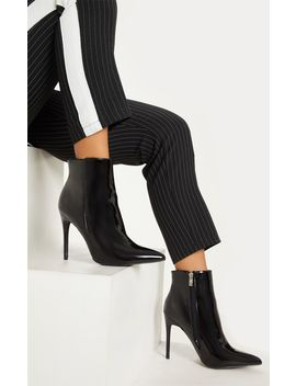 Black Patent Point Toe Ankle Boot by Prettylittlething