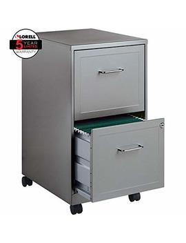 Lorell 16873 2 Drawer Mobile File Cabinet, 18 Inch Depth   Gray by Lorell