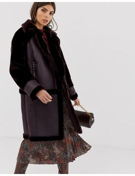 Whistles Longline Faux Fur Coat by Whistles