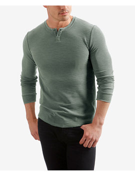 Men's Burnout Thermal Henley by Lucky Brand