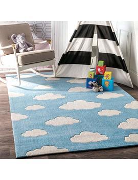 Nu Loom 200 Bhev28 A 508 Handmade Modern Clouds Kids Pink/Blue Rug (5 Feet X 8 Feet) by Amazon