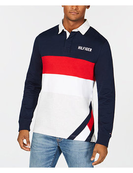 Men's Colorblocked Rugby Shirt, Created For Macy's by Tommy Hilfiger