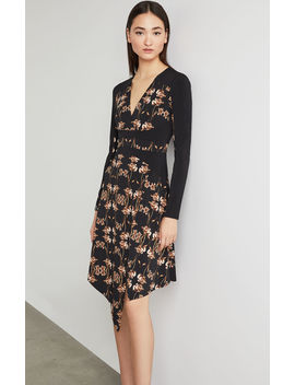 Iris Print Faux Wrap Dress by Bcbgmaxazria