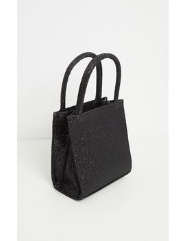 Black Glitter Rectangle Mini Tote Bag by Prettylittlething