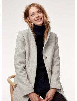 Cocoon Coat    Mid Length, Virgin Wool And Cashmere Coat by Wilfred