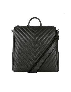 Alison  Italian Leather Chevron Quilted Backpack Briefcase Document Holder Crossbody Purse Handbag Women Shoulder Bag Rucksack by Etsy