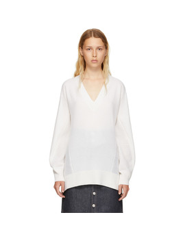 White Cashmere Sabreena V Neck Sweater by Rag & Bone