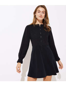 Textured Dot Flare Shirtdress by Loft
