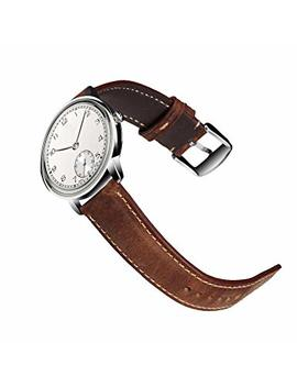 18mm 20mm 22mm Watch Leather Strap,Quick Release Spring Bar Type Of Replacement Band Come With Steel Clasp (Pin Buckle) Chimaera by Chimaera