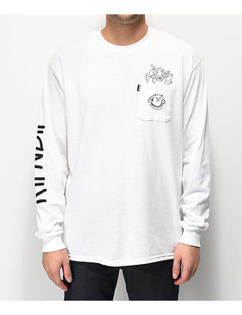 Ripndip Nermaniac White Long Sleeve T Shirt by Ripndip