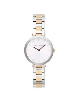 Nina Tt Silver/ Rose Gold Bracelet Watch, 33mm by Rebecca Minkoff