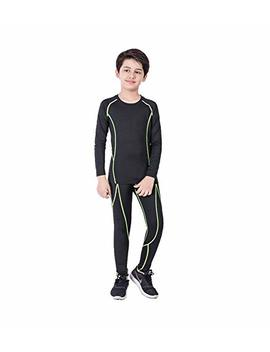 Malavita Boys & Girls Compression Pants Long Sleeve Compression Shirts Athletic Base Layer 2 Pcs Set by Malavita