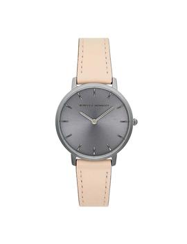 Major Grey Ion Plated Tone Blush Strap Watch, 35mm by Rebecca Minkoff